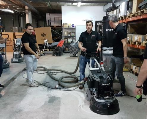 Curso de formación pulir, pulidos, pavimentos, suelos, superficies