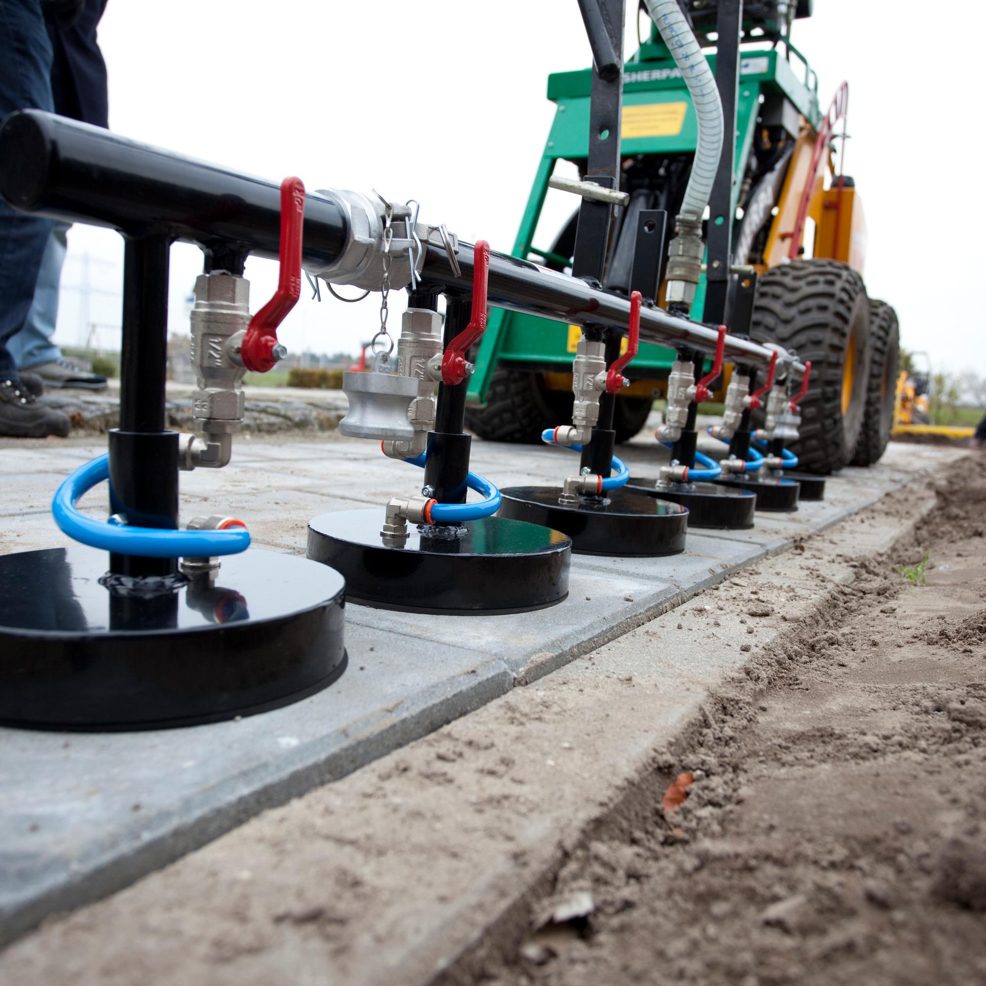 mini cargadoras para construir carreteras