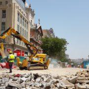 Robots de demolición en el metro de Madrid