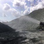 Los cañones SprayStream trabajando en minería