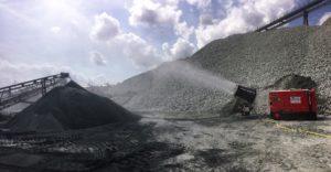 Los cañones nebulizadores SprayStream trabajando en minería