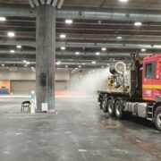 La UME desinfecta en Ifema con Spraystream